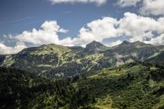 Vue sur les sommets du Chablais (26 aout 2018)