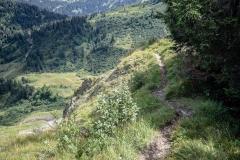Sentier de crêtes allant à la Pointe de Lens (26 aout 2018)