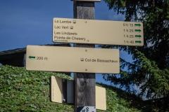 Du Col de Bassachaux, continuer vers la Pointe de Chésery (26 aout 2018)