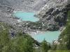 Lacs apparus suite au recul du glacier