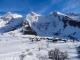 Les Confins devant la Roche Perfia, le Mont Rachais et la Roualle (31 décembre 2013)