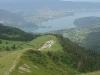 Montée à la Tournette devant le lac d'Annecy