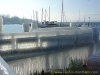 Les quais, l'embarcadère de la CGN prisonnier de la glace