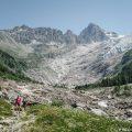 Glacier du Trient qui a considérablement reculé à cause du réchauffement climatique