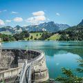 Lac de Montsalvens après les Gorges de la Jogne