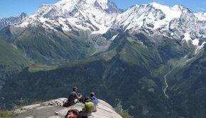 Panorama sur les Dômes de Miage depuis le Mont Joly
