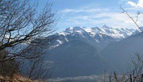 Les Aravis vus depuis le sommet du Mont Orchez
