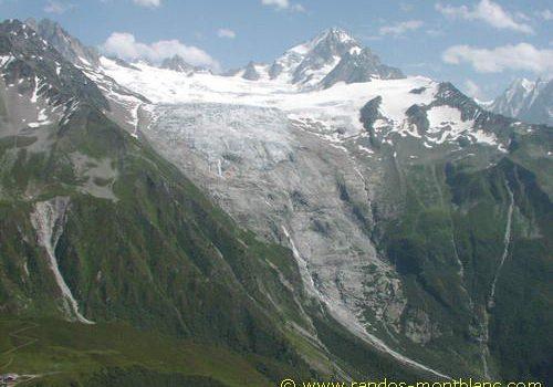 Glacier du Tour vu depuis les Posettes