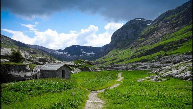 Les Chalets de Sales (1877 m), Col de la Portette (2354 m), Dérochoir (2220 m)